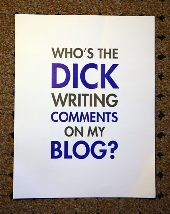 who's the dick?