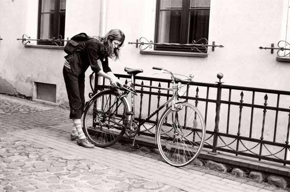ir vėl su dviračiu