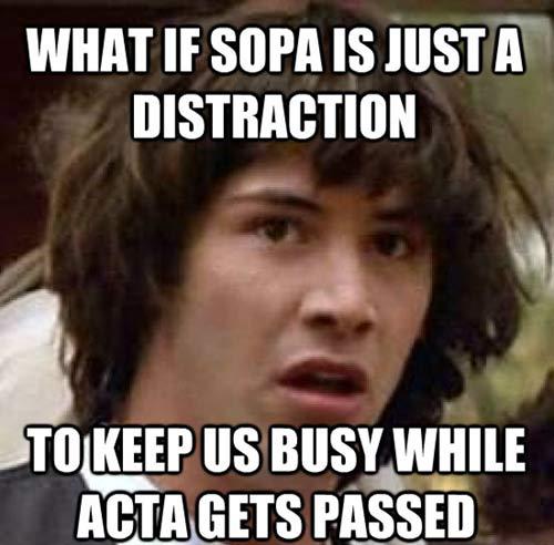 apie ACTA sutartį žmonių kalba