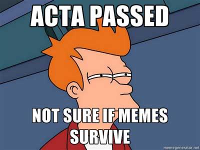 paskutinis (?) pasispardymas prieš ACTA