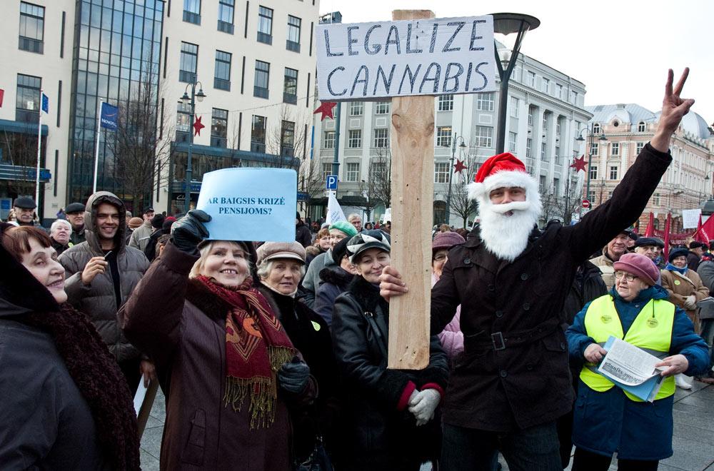 profsąjungų ir pensininkų nevykęs mitingas (gruodžio 10)